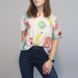 4 for $20 Boxy Crop Fruit Tee